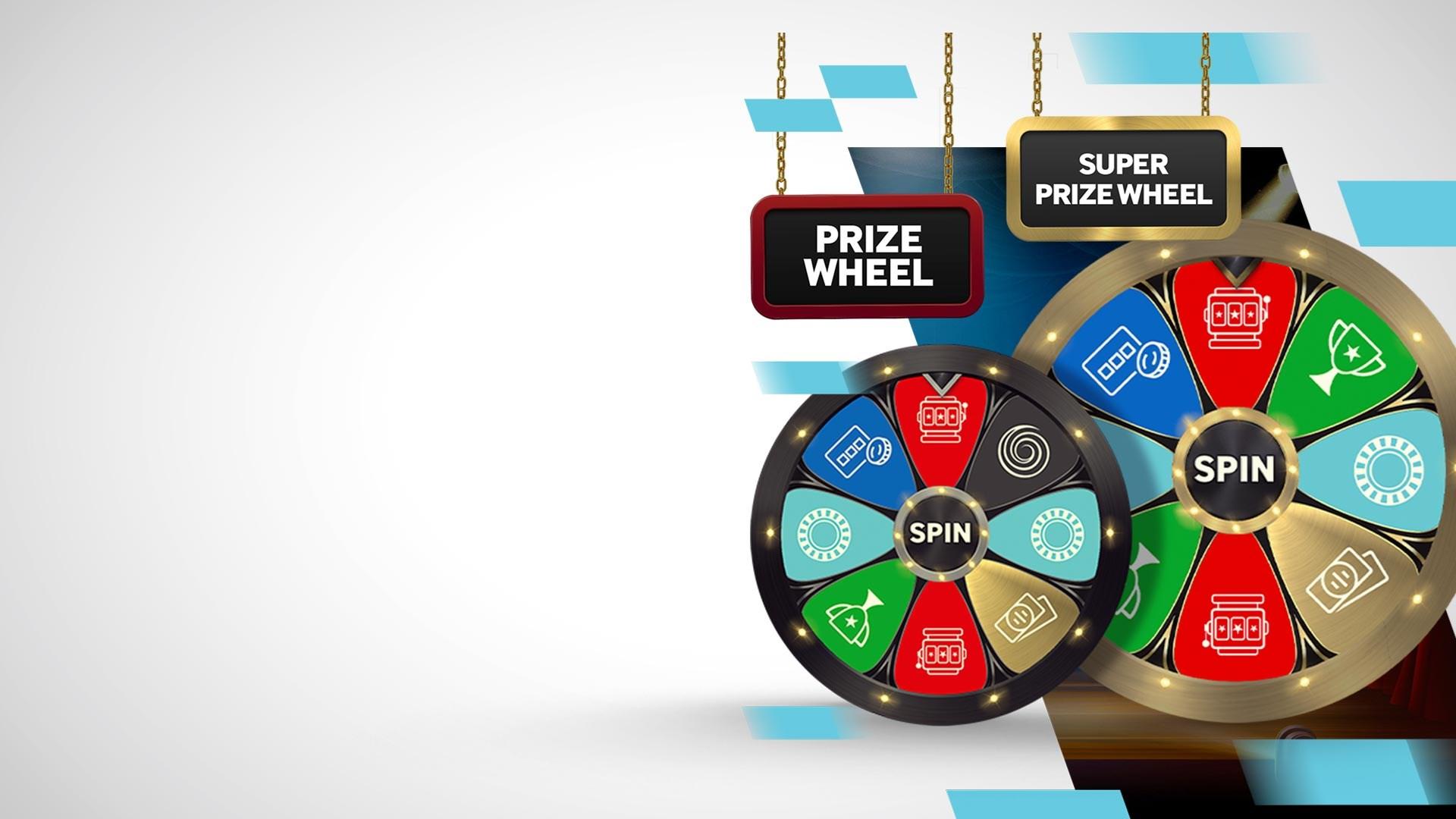 2 Bonus al giorno con la Prize e la Super Prize Wheel